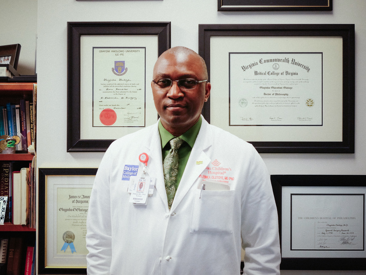 Doctor Oluyinka Olutoye, a US Based Nigerian Doctor Opens Up on His Success in Fetus Baby Operation