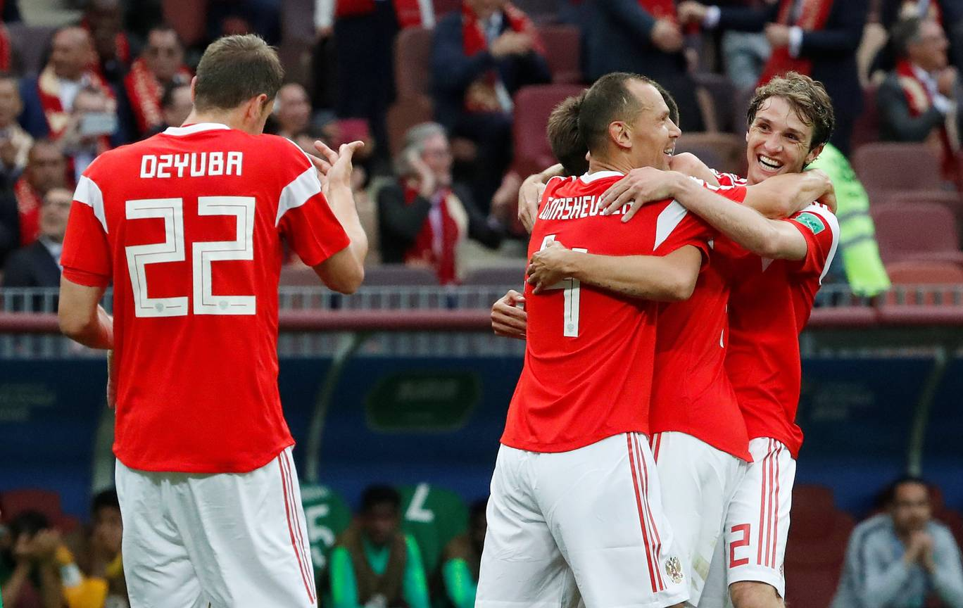 Russia Begins World Cup Campaign on a Blistering Note