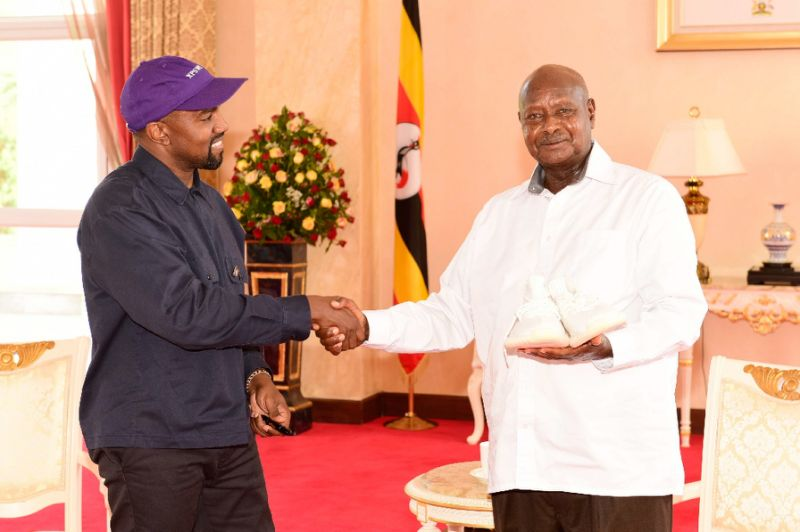 President Museveni Thankful to Kayne West for Gift of Designer Sneakers