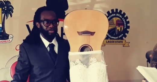 Man in Lagos Marries his Guitar in Splendour