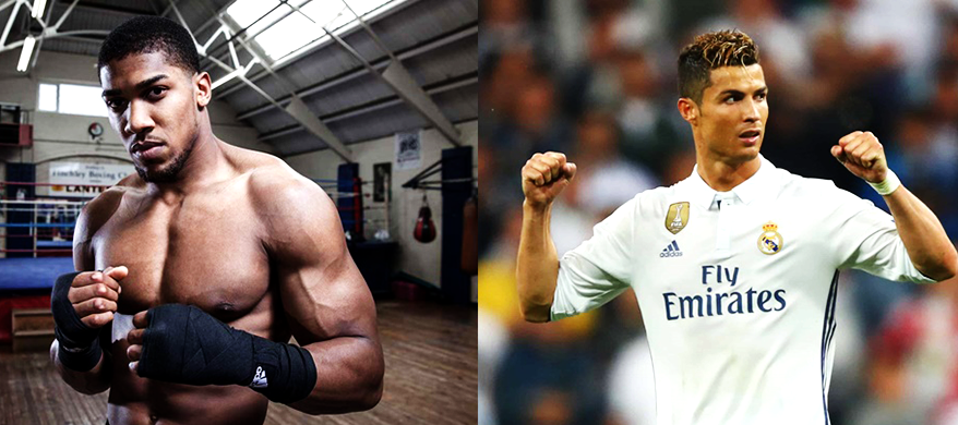 Anthony Joshua Slammed for his Support of Cristiano Ronaldo in Light of Sexual Charges against the Soccer Star