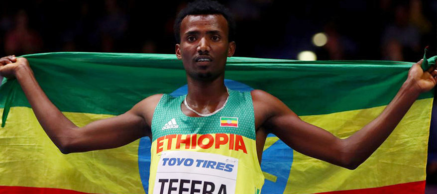 19 Year-old Ethiopian Runner Sets New World Record in Birmingham