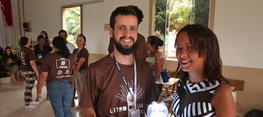 Turning Discarded Bottles into solar-powered lamps – Brazilian Remote Communities