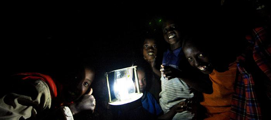 discarded bottles into solar-powered lamps