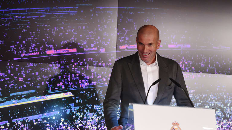 Zinedine Zidane Returns to a Hero's Welcome at the Santiago Bernabau on Heels of Madrid's Woes