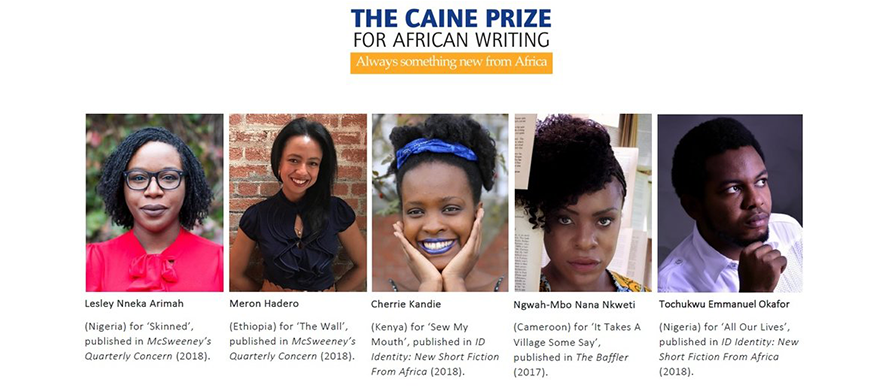 Two Nigerians Writers Grace 2019 Caine Prize Shortlist