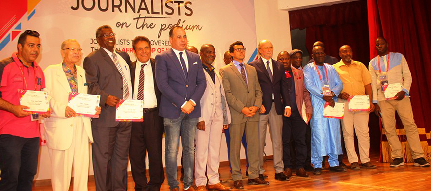 International sports press association honors veteran Africa cup of Nations journalists in Egypt