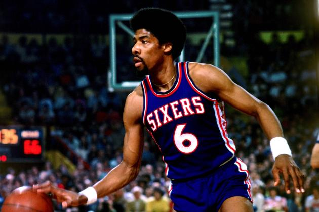 "Julius Erving, or ""Dr. J,"" was an acrobatic player in the NBA and ABA. His dunks and graceful play helped change the game."