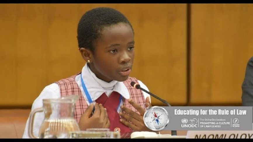 11-year -old Naomi Oloyede impresses at a High-Level conference on 'The Education for Justice' in Austria