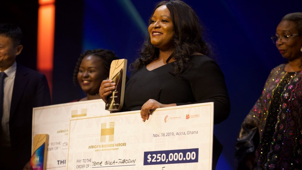 "It Is an Incredible Honour To Be Named Africa's Business Hero"" – Giwa-Tubosun, Winner, $250,000 Jack Ma Prize for Business Innovation"