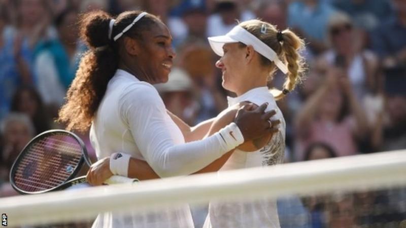 Angelique Kerber on July 14 beats Serena Williams