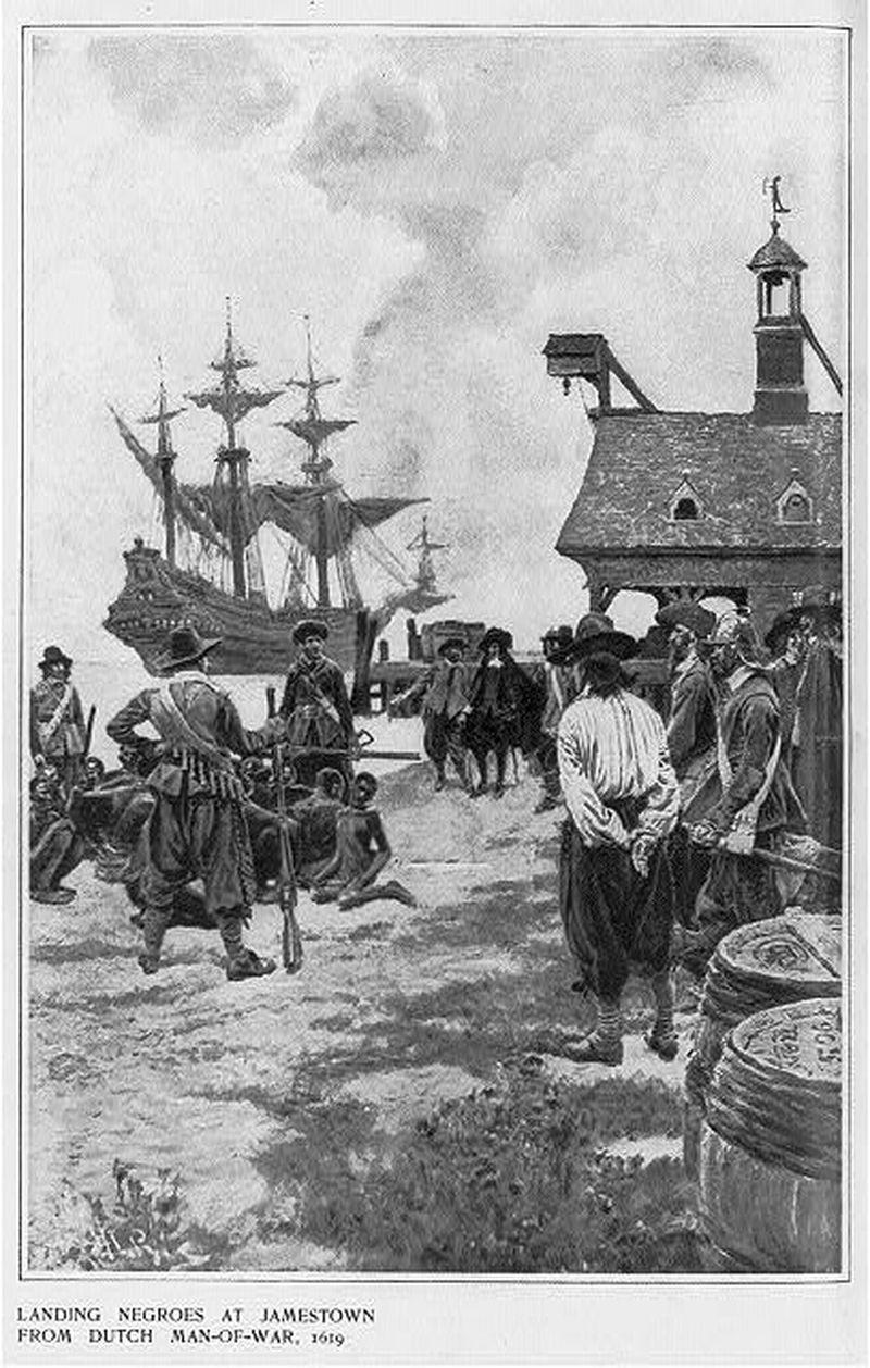 August 20: First Black slaves arrive the Dutch