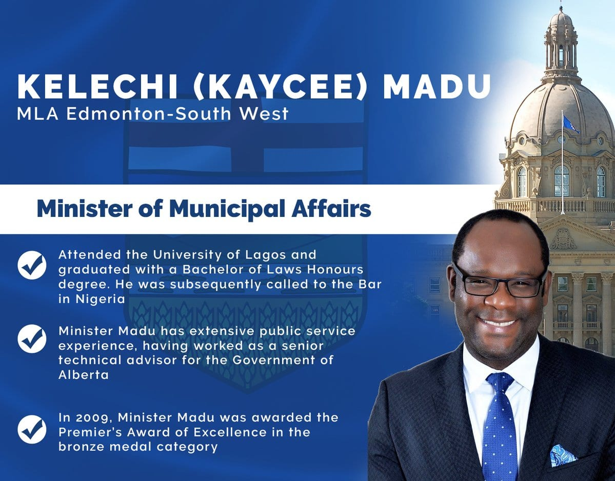 Nigeria Lawyer, Kelechi Madu, first African appointed justice minister  in Canada